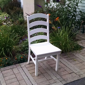A&L Furniture Amish-Made Poly Ladderback Dining Chair, White