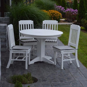 A&L Furniture Poly 5pc Traditional Dining Set with Round Table