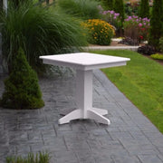 "A&L Furniture 33"" Square Outdoor Poly Dining Table, White"