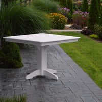 A&L Furniture Co. Poly Square Bar Table, White