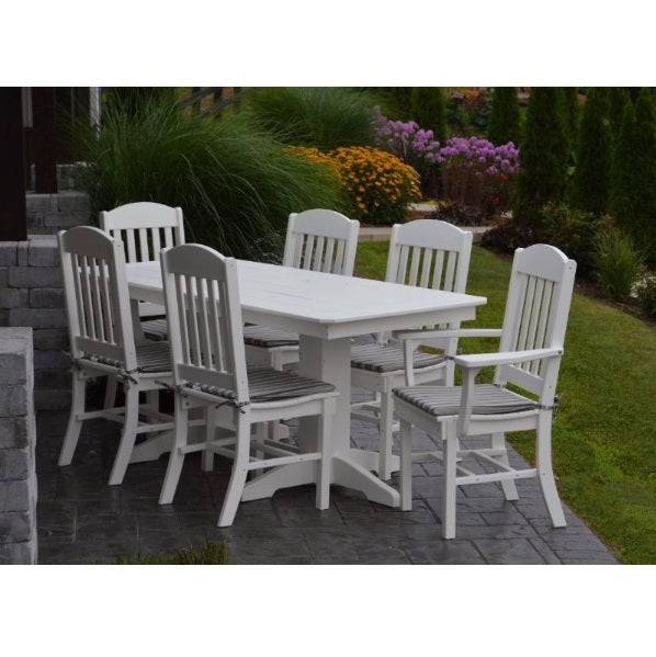 A&L Furniture Poly 7pc Classic Dining Set with Rectangular Table