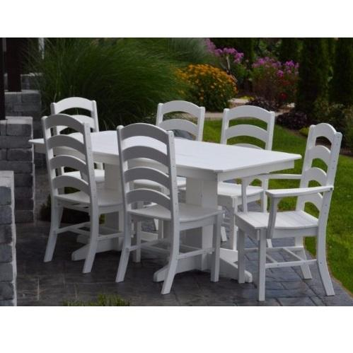 A&L Furniture Poly 7pc Ladderback Dining Sets