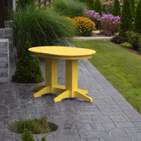 A&L Furniture Amish-Made Rectangular Outdoor Poly Dining Table, Lemon Yellow