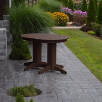 A&L Furniture Amish-Made Rectangular Outdoor Poly Dining Table, Tudor Brown