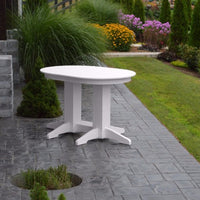 A&L Furniture Amish-Made Rectangular Outdoor Poly Dining Table, White