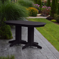 A&L Furniture Amish-Made Rectangular Outdoor Poly Dining Table, Black