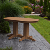 A&L Furniture Amish-Made Rectangular Outdoor Poly Dining Table, Cedar