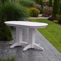 A&L Furniture Co. Poly Oval Bar Table, White