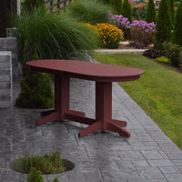 A&L Furniture Amish-Made Rectangular Outdoor Poly Dining Table, Cherrywood