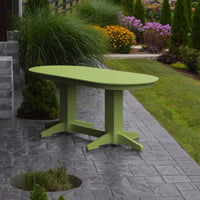 A&L Furniture Amish-Made Rectangular Outdoor Poly Dining Table, Tropical Lime