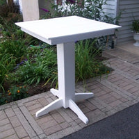 "A&L Furniture 33"" Square Outdoor Poly Bar Table, White"