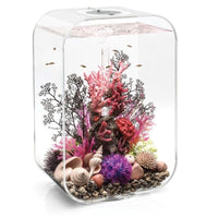 Transparent biOrb® LIFE 45 Aquarium Kit with Multi-Color Remote Controlled LED Lighting