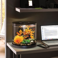 biOrb® TUBE 15 Aquarium Kit on elegant computer desk
