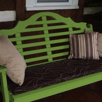 A&L Furniture Amish-Made Pine Marlboro Garden Bench, Lime Green