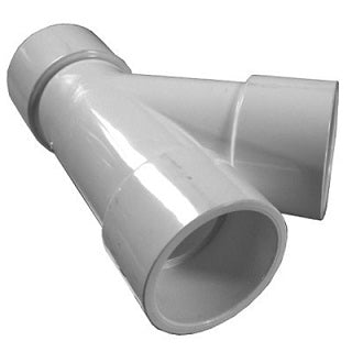 "Schedule 40 PVC Wye Fittings, 2"" Slip Ends"