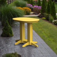 A&L Furniture 4' Oval Amish-Made Poly Bar Table, Lemon Yellow