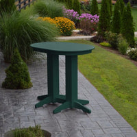 A&L Furniture 4' Oval Amish-Made Poly Bar Table, Turf Green