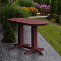 A&L Furniture 6' Oval Amish-Made Poly Bar Table, Cherrywood