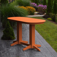 A&L Furniture 6' Oval Amish-Made Poly Bar Table, Orange