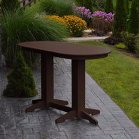 A&L Furniture 6' Oval Amish-Made Poly Bar Table, Tudor Brown