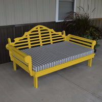 A&L Furniture Amish-Made Yellow Pine Marlboro Daybed, Canary Yellow