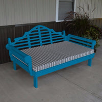 A&L Furniture Amish-Made Yellow Pine Marlboro Daybed, Caribbean Blue