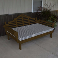 A&L Furniture Amish-Made Yellow Pine Marlboro Daybed, Coffee