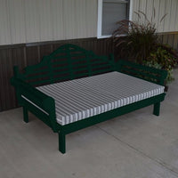 A&L Furniture Amish-Made Yellow Pine Marlboro Daybed, Dark Green
