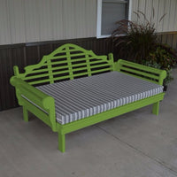 A&L Furniture Amish-Made Yellow Pine Marlboro Daybed, Lime Green