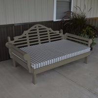 A&L Furniture Amish-Made Yellow Pine Marlboro Daybed, Olive Gray