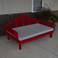 A&L Furniture Amish-Made Yellow Pine Marlboro Daybed, Tractor Red