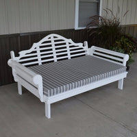A&L Furniture Amish-Made Yellow Pine Marlboro Daybed, White