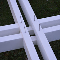 "Closeup of Legs on A&L Furniture Co. 44"" Amish-Made Square Poly Walk-In Picnic Table"