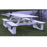 A&L Furniture Co. 8' Amish-Made Rectangular Poly Walk-In Picnic Table