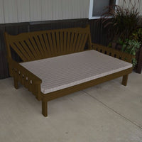 A&L Furniture Co. Amish-Made Pine Fanback Daybed, Coffee