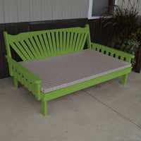 A&L Furniture Co. Amish-Made Pine Fanback Daybed, Lime Green