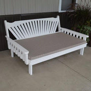 A&L Furniture Co. Amish-Made Pine Fanback Daybed, White