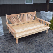 A&L Furniture Co. Amish-Made Cedar Fanback Daybed, Unfinished