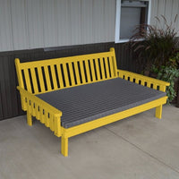 A&L Furniture Amish-Made Pine Traditional English Daybed, Canary Yellow