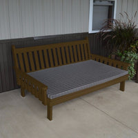 A&L Furniture Amish-Made Pine Traditional English Daybed, Coffee