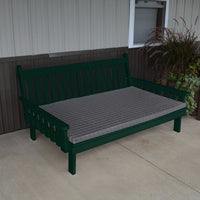 A&L Furniture Amish-Made Pine Traditional English Daybed, Dark Green