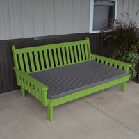 A&L Furniture Amish-Made Pine Traditional English Daybed, Lime Green