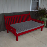A&L Furniture Amish-Made Pine Traditional English Daybed, Tractor Red