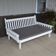 A&L Furniture Amish-Made Pine Traditional English Daybed, White