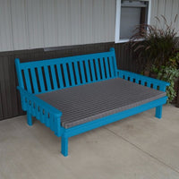 A&L Furniture Amish-Made Pine Traditional English Daybed, Caribbean Blue