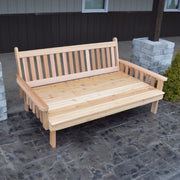 A&L Furniture Co. Amish-Made Cedar Traditional English Daybed, Unfinished