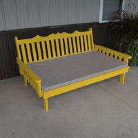 A&L Furniture Amish-Made Pine Royal English Daybed, Canary Yellow