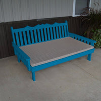 A&L Furniture Amish-Made Pine Royal English Daybed, Caribbean Blue