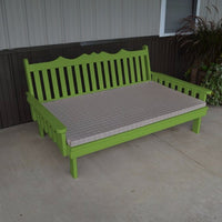 A&L Furniture Amish-Made Pine Royal English Daybed, Lime Green