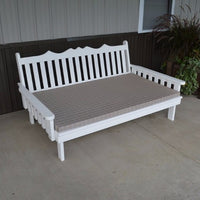 A&L Furniture Amish-Made Pine Royal English Daybed, White